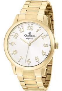 Relógio Champion Analógico Cn26000H Feminino - Feminino-Dourado