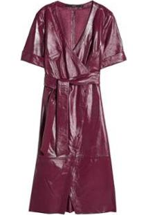 Vestido Couro Transpasse Eva - Feminino