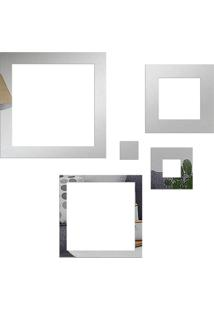 Espelho Love Decor Decorativo Quadrados Geométricos Único - Kanui