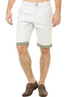 Bermuda Eventual Casual Masculina - Masculino-Off White