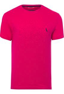 Camiseta Masculina Degradê Pois Inverso - Rosa