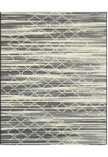 Tapete Classe A Abstrato- Preto & Off White- 250X200Tapete Sã£O Carlos