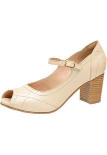 Sapato Peep Toe Gasparini 3193 Perola - Kanui