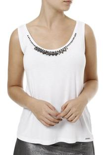 Blusa Regata Cativa Feminina - Feminino-Branco