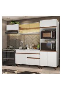 Cozinha Completa Madesa Reims Xa260001 Com Armário E Balcáo - Branco Branco