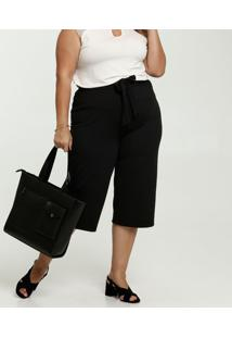 Calça Feminina Pantacourt Plus Size