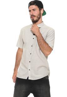 Camisa Globe Reta Linem Cinza/Off-White