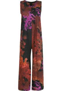 Osklen Macacão Tie Dye Bolso - Vermelho