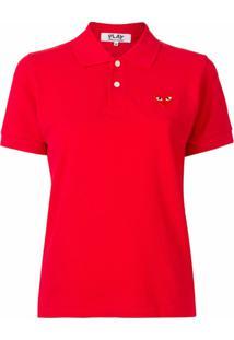 Comme Des Garçons Play Camisa Polo - Vermelho