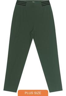 Calça Plus Size De Molecotton Verde