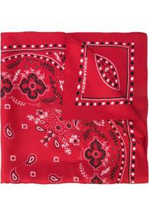 Dsquared2 Lenço De Seda Com Estampa Paisley - Vermelho