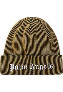 Palm Angels Gorro Com Logo Bordado - Amarelo