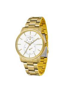 Relógio Lince Feminino Fashion Analógico Dourado Lmgj086L-B1Kx