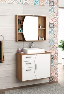 Conjunto Para Banheiro Duna Nogal/Branco Bosi