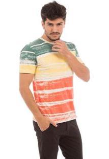 Camiseta Aes 1975 Striped Masculina - Masculino-Verde