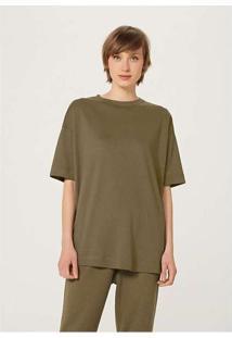 Blusa Básica Feminina Em Algodão Supima Verde--Mus