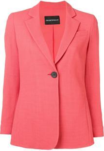 Emporio Armani Single Button Blazer - Rosa
