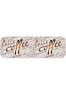 Passadeira Wevans Latte Coffee Marfim