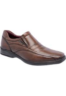 Sapato Social Sândalo Confort Time Masculino - Masculino-Marrom Claro