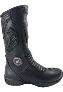 Bota Atron Shoes Motociclista C/ Protetor De Câmbio - Masculino
