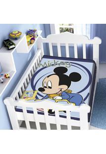 Cobertor Infantil Jolitex Raschel Mickey Carrinho Azul - Kanui