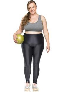 Legging Mulher Elástica Plus Size Karen Micro Costurinha - Feminino