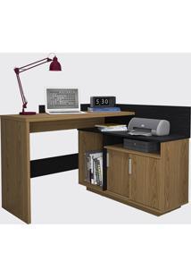 Escrivaninha Mega Office Mel Freijo Ac/Preto Ac Olivar - Bege - Dafiti