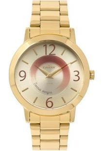Relógio Condor Disco Feminino - Feminino-Dourado