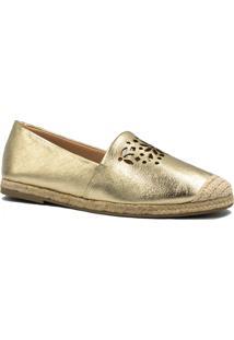 Alpargata Zariff Shoes Metalizada Corda Dourado