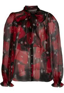 Dolce & Gabbana Blusa Sicily Com Estampa De Bolsa - Vermelho