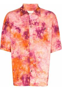 Nicholas Daley Camisa Tie Dye Aloha - Laranja