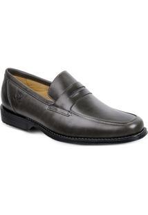 Sapato Em Couro Monte Carlo 17602 - Masculino-Cinza