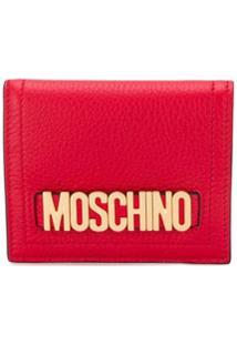 Moschino Carteira Com Placa De Logo - Vermelho
