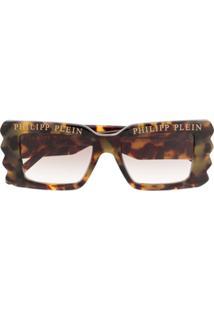 Philipp Plein Óculos De Sol Com Logo - Neutro