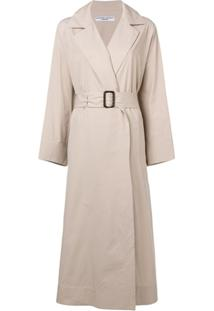 Katharine Hamnett London Trench Coat Com Cinto - Neutro