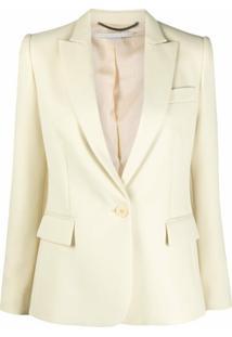 Stella Mccartney Blazer Com Lapelas E Abotoamento Simples - Amarelo