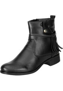 Bota Cano Curto Dududias Ankle Boot 070 Preto
