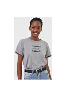 Camiseta Colcci Radiate Love Cinza