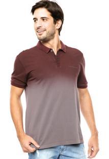 ... Camisa Polo Calvin Klein Jeans Degradê Cinza Vinho 9097668c53e81