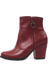 Bota Cano Curto Damannu Shoes Florence Bordô