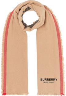 Burberry Cachecol Listrado Icon - Neutro