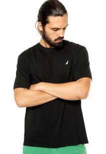 Camiseta Nautica Logo Preta