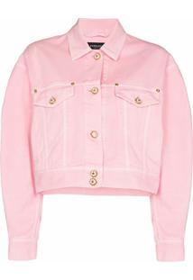 Versace Cropped Denim Jacket - Rosa