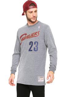 Camiseta Mitchell & Ness Cleveland Cavaliers Cinza