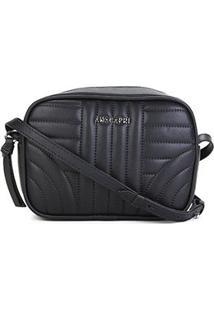 Bolsa Anacapri Mini Bag Transversal Matelassê Feminina - Feminino-Preto