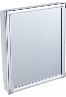 Armário Plástico Com Perfil De Alumínio Versátil 31 X 36 X 10 Cm Al41 Astra
