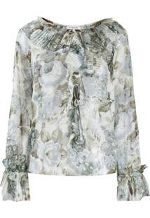 P.A.R.O.S.H. Blusa Com Estampa Floral - Verde