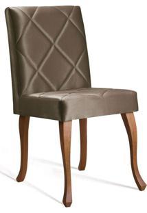Cadeira De Jantar Leonardo Da Vinci I Losan Cetim Dourado