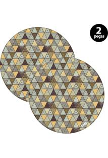 Sousplat Mdecore Abstrato 32X32Cm Colorido 2Pçs