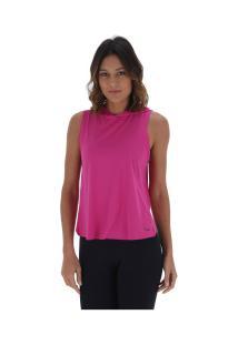 Camiseta Regata Com Capuz Memo - Feminina - Rosa Escuro